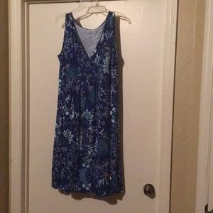 Blue and teal dress